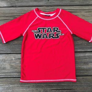 Star Wars Kids Tee Red Crew Neck T Shirt Size S